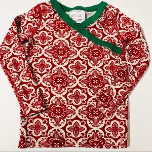 Hanna Andersson 90(3) red holiday pajama top